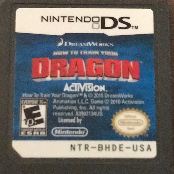 Nintendo other ds dreamworks how to train your dragon poshmark nintendo ds dreamworks how to train your dragon ccuart Choice Image